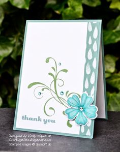 Making a splash with the new Stampin Up blendabilities - Stampin Up ideas and supplies from Vicky at Crafting Clares Paper Moments