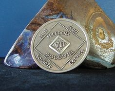 7 Year Narcotics Anonymous Vintage NA Medallion Coin Chip Token