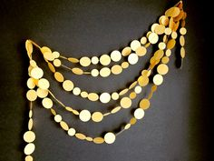 Yellow Gold Garland  New Years Garland  Christmas by ArtsDelight, $20.00