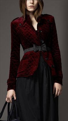 fashion, cloth, burberry, burberri london, dress, velvet jacket, burgundi burberri, coat, burgundy