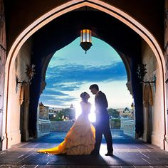 Fairy tale bridal portrait session in Cinderella's Castle