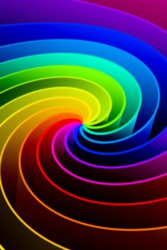 Spiral of many vivid colors