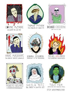 Monsters of Modern Literature Trading Cards (Set of 6)