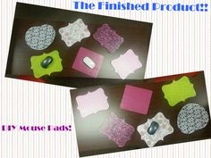 DIY Mousepads #craft #mousepad #easy #fun #diy #cork