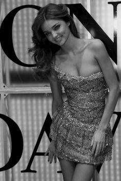 Miranda kerr black and white fashion photography