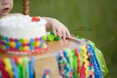 Very Hungry Caterpillar smash cake and high chair decorations! #smashcake #projectnursery