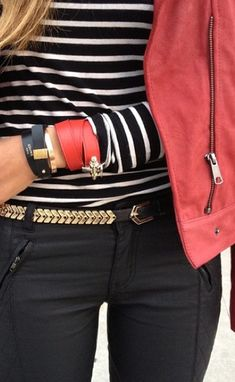 chain belt and stripes