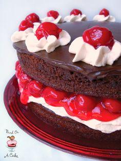 Black Forest Cake with Chocolate Ganache {Bird On A Cake}