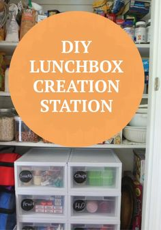 Make creating lunches a snap with a simple DIY lunchbox station in your pantry or kitchen :)