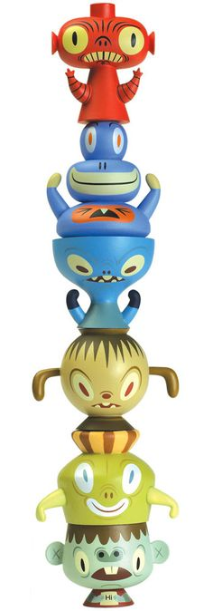 I use these totem characters as paperweights when the ceiling fan is on above my desk. Much cooler than the various pens and erasers I used for that before...