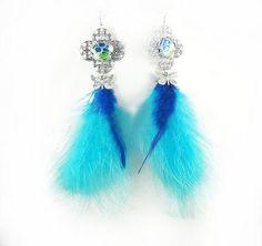 Handmade Fashion Feather Earrings
