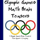 Olympic Games Math Brain Teasers FREEBIE 7 Math Brain Teasers based around the Olympic Rings brought to you by Games 4 Learning These 7 Olympic Games Math Brain Teasers are provided in printable card format or worksheet format.