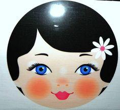 Modern babushka doll face