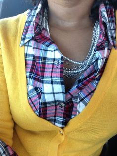 Plaid and pearls. My new obsession!