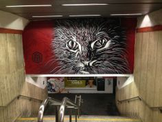 Street art - metro station 'Spagna'.
