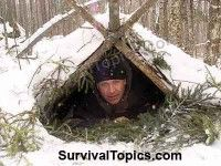 winter-survival-shelter + lots of other survival tips