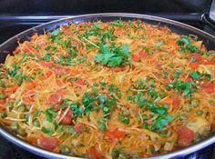 Fideúa de verduras Recetas Vegetarianas