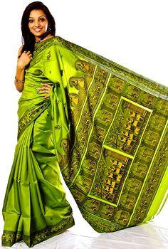 Pretty flat silk sari