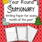 FREE Monthly Stationary {Writing Paper for the Whole Year!}