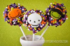 Easy Halloween Oreo Pops