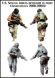 US Special Operations Forces trooper in a fight. Afghanistan 2001-2003. Brand new stuff from Evolution Miniatures, now in stock! $18