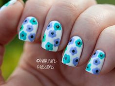 Floral Nail Art for the Summer