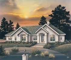 Spacious one-level Luxury home with more than 3,500 square feet.  Luxury House Plan # 321034.