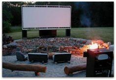 DIY pvc backyard movie screen - THIS needs to happen!