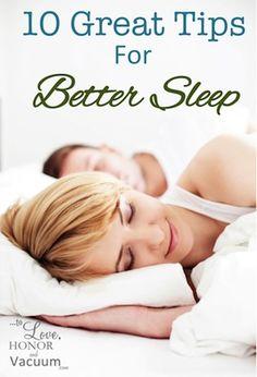 10 Tips for Getting Better Sleep