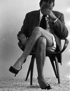 leg, black white photography, art, suit, clarks, heels, shoe, helmut newton, photographi