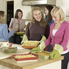 Girls' Night In: Casserole Swap Night  Help friends fill their freezers with this comfort food by hosting a casserole swap