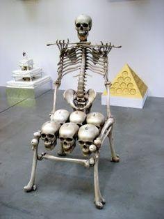 ☠ Skull & Bones Chair ~ by Artist Keith Tyson ☠