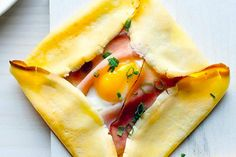 Ham and Egg Crepes.