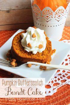 Pumpkin Butterscotch Bundt Cake