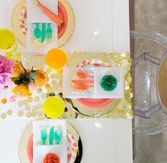 DIY Confetti Table Runner YESSSSSS