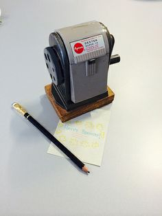An awesome low-tech birthday gift from Gershon Dublon. Can you smell the pencil shavings?