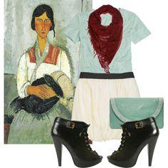 Modigliani, created by georgina-m on Polyvore