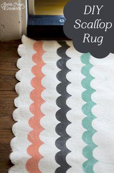 DIY Scallop Rug