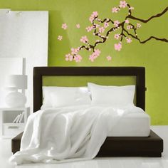 Master Design Decals has more designs.  Some unusual ones and some simple ones. This Cherry Blossom Decal now featured on Fab.