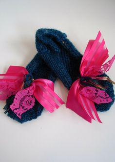 Knitted Slippers Womans Hand Knit Slippers by ButtermilkCottage, $20.00