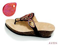 Shimmer and shine! #sandals #nailpolish