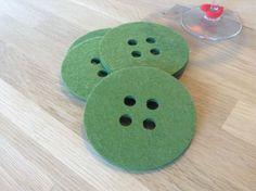Cool DIY felt button coasters DIY Felt craft Tip: use thick felt for best result