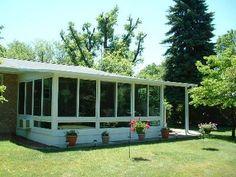 simple patio/sunroom/screen porch