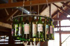 wine chandelier