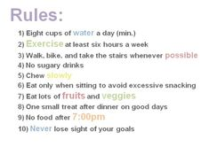 fit, diet, lose weight, weight loss, rule, healthi, inspir, workout, motiv