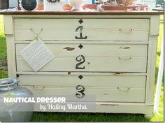 DIY nautical dresser