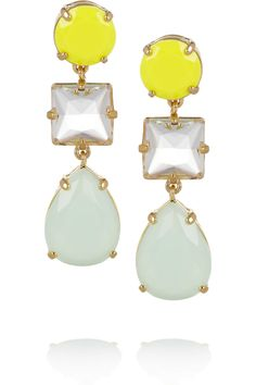 J.Crew | Island gold-tone crystal earrings