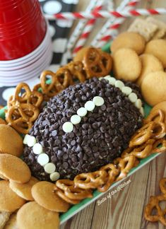 Impress your guests with this Game Day Chocolate Chip Cheesecake Ball. It's a perfect way to satisfy your sweet tooth while cheering on your favorite team! -- Belle of the Kitchen for Kenarry: Ideas for the Home
