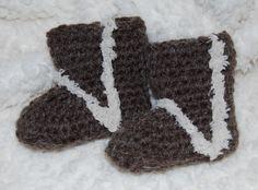 Crochet Baby Uggs- Free Crochet Pattern Baby Booties Crochet Baby Shoes
