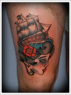 traditional tattoo girl | Tumblr